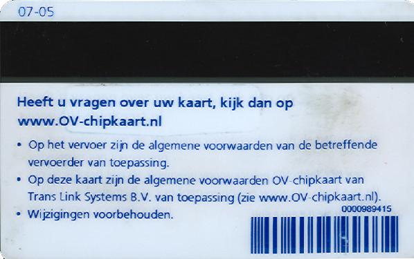 persoonlijk ov chipkaart aanvragen